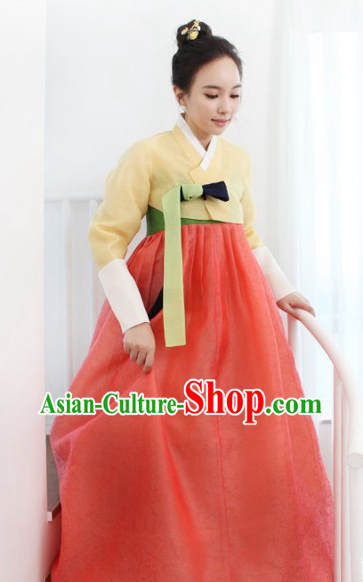 Top Korean Traditional Hanbok National Costumes Complete Set for Women