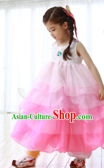 Top Korean Traditional Kids Hanbok National Costume Complete Set