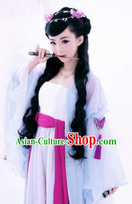 Asian Fashion Butterfly Fairy Costumes and Hair Accessories Complete Set for Women