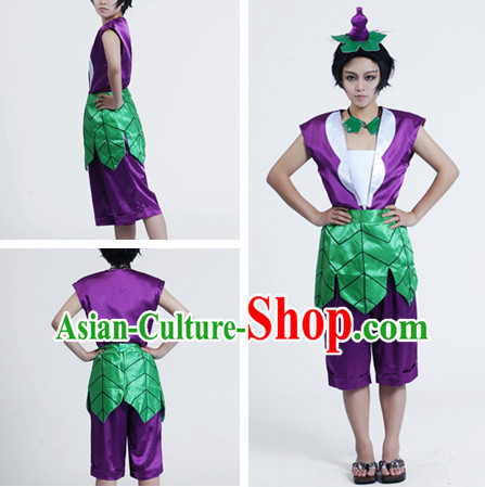 Chinese Cartoon Character Gourd Doll Costumes for Men or Kids