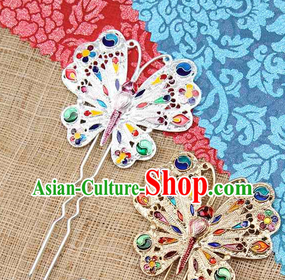 Korean Traditional Handmade Butterfly Hair Accessories for Women