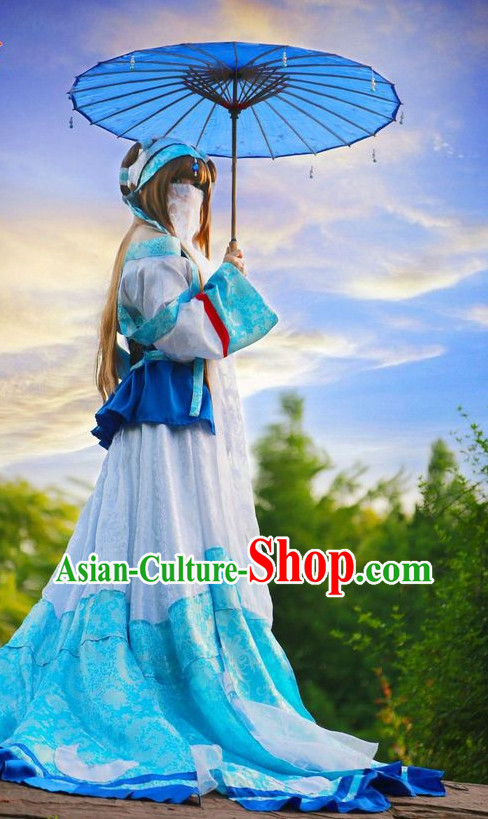 Asian Princess Hanfu Costumes Complete Set for Women