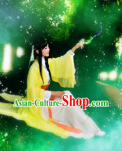 Chinese Costumes Traditional Clothing China Shop Yellow Fairy Costumes