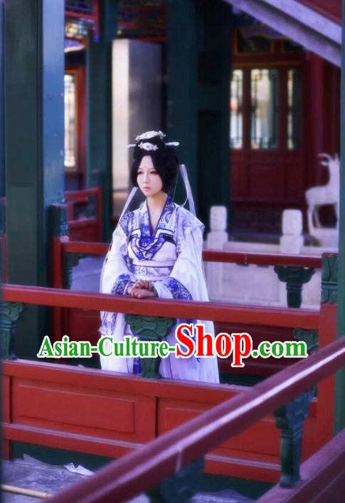 Chinese Costumes Traditional Clothing China Shop Purple Princess Cosplay Halloween Costumes