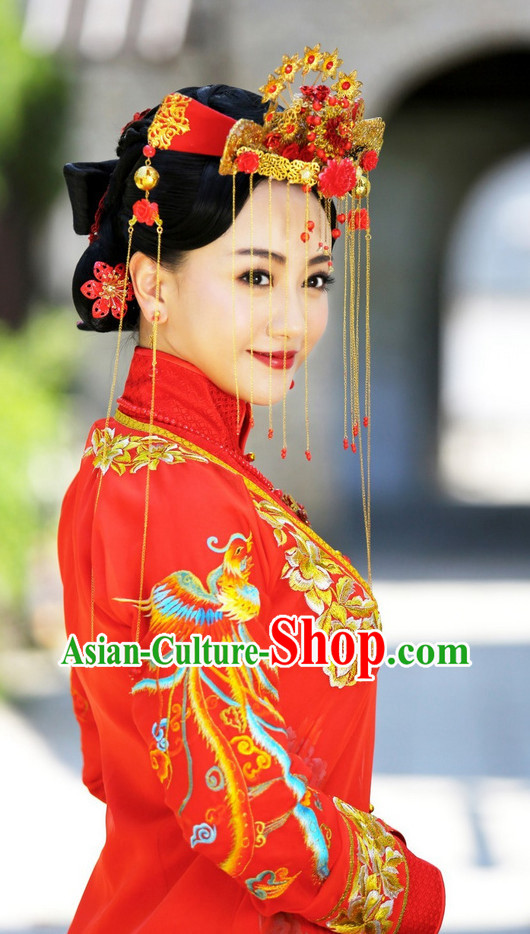 Chinese Traditional Wedding Hair Jewelry