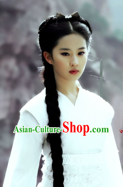 Chinese Traditional Style Female Long Black Wig