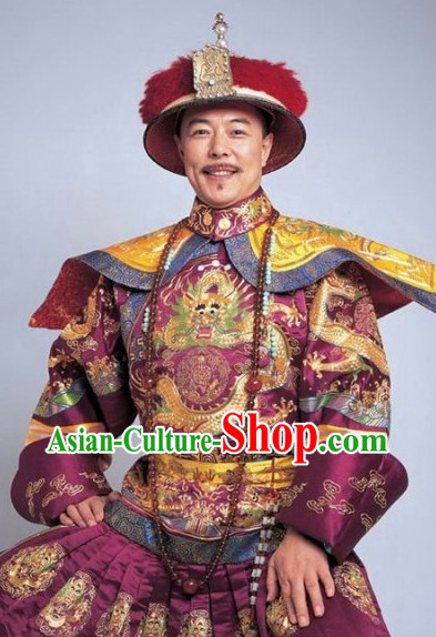 Chinese Emperor Costume Asian Fashion China Civilization Medieval Costumes Carnival Costume
