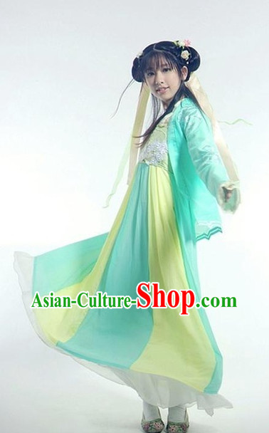 Asian Fashion Chinese Tang Dynasty Robe Hanfu Complete Set for Women