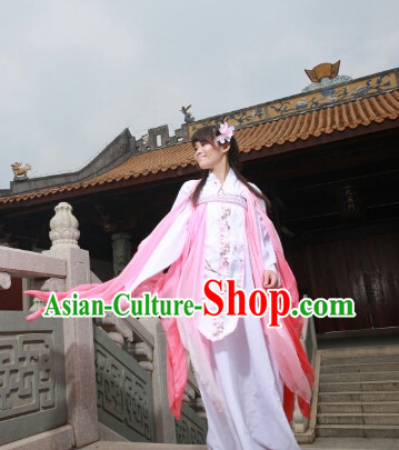 Asian Fashion Chinese Female Fairy Hanfu Outfit Complete Set for Women