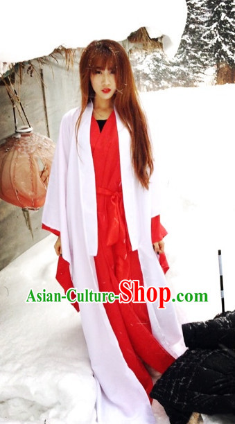 Asian Fashion Chinese Hanfu Clothes Complete Set for Men and Women