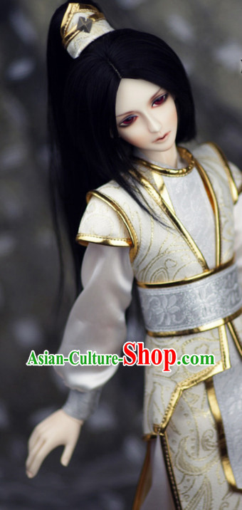 Asia Fashion China Civilization Chinese Costumes Hanfu Dresses Complete Set for Men