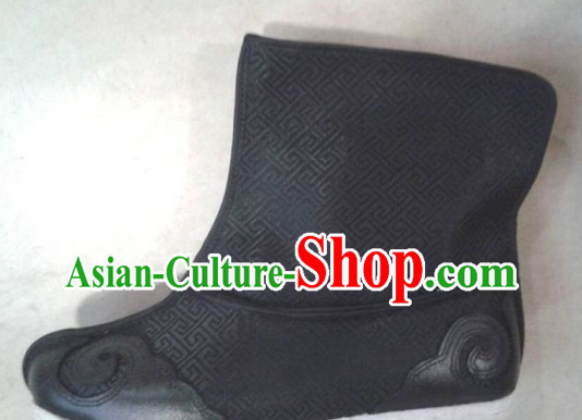 Handmade Asian Chinese Traditional Black Hanfu Shoes online Ancient Shoes