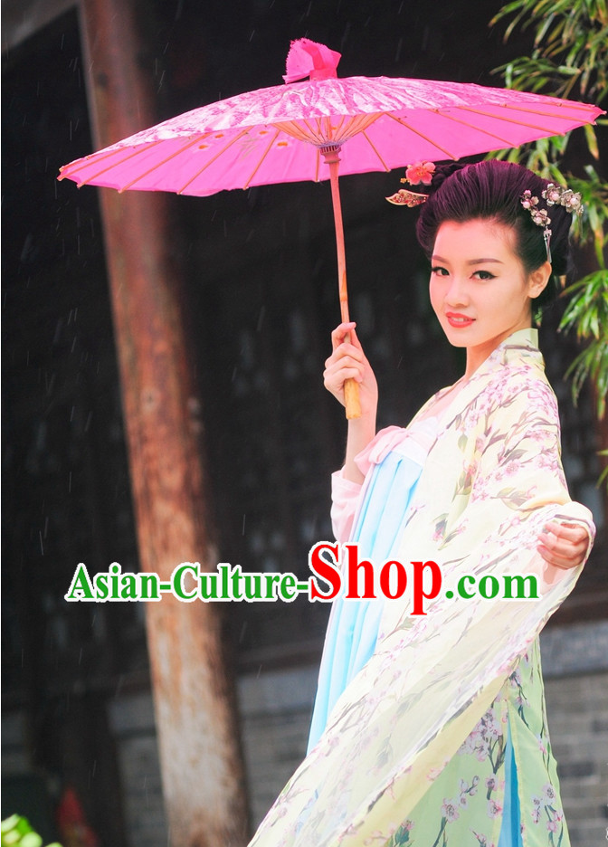 Asian Fashion Oriental Dresses Chinese Hanfu Plus Size Wide Sleeves Clothes Complete Set