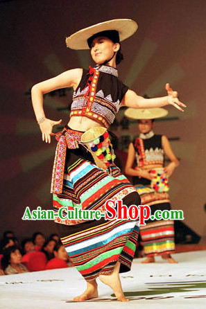 Asian Fashion Chinese Ethnic Ladies Clothing and Hat