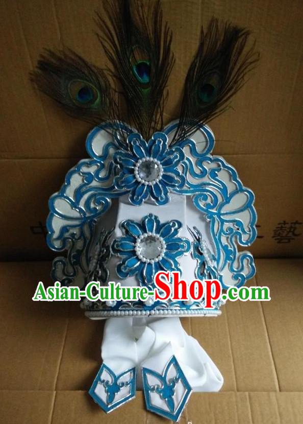 Chinese Traditional Opera Young Men Peacock Hat