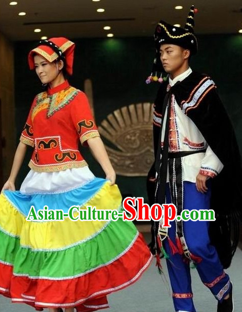 Oriental Clothing Chinese Yi Minority Traditional Ethnic Costumes of China