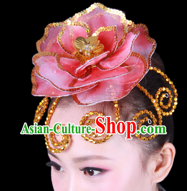 Chinese Classical Group Dance Dance Flower Hair Decorations