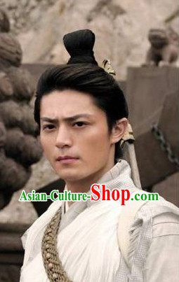 Chinese Classical Gu Zhuang Male Black Wig
