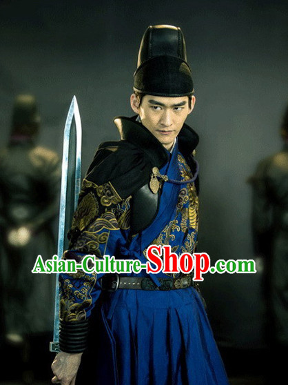 Chinese Ancient Style Guzhuang Black Bodygurad Hat for Men