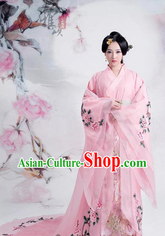 Chinese Traditional Empress Clothing and Hair Jewelry Complete Set