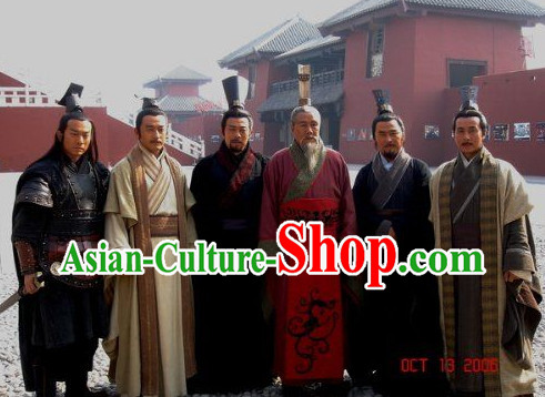 Asian Chinese Fashion Government Official Plus Size Custom Made Costumes Long Gowns 6 Sets