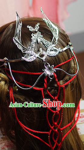 Asian Fashion Chinese Cosplay Hair Fascinators Hair Slides Headpieces Hair Ornaments