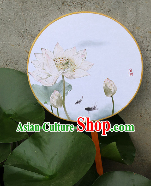 Chinese Traditional Lotus Fan