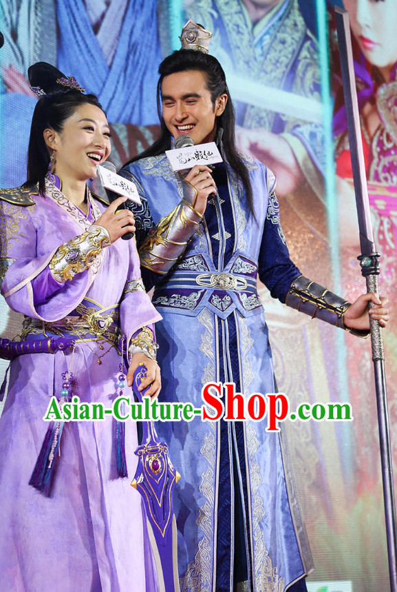 Asian Chinese Plus Size Custom Made Costumes and Hat for Men