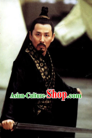 Chinese Ancient Scholar Long Black Wig for Men