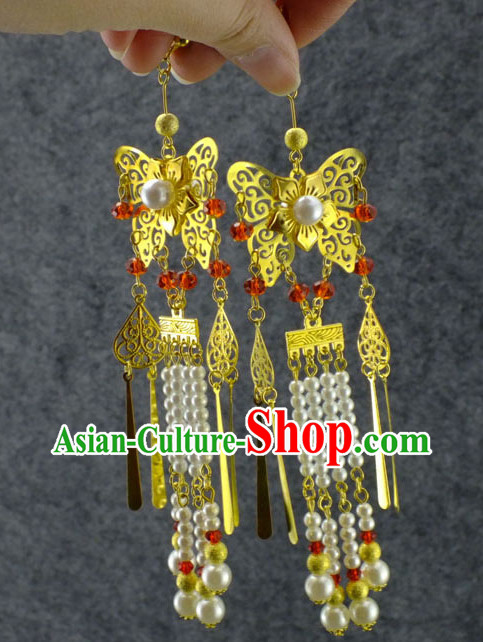 Chinese Traditional Handmade Butterfly Earrings