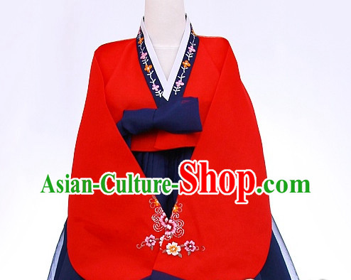 Top Korean Traditional Custom Made Dance Hanbok Costumes Complete Set for Women