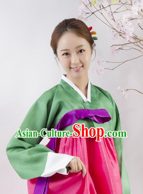 Traditional Korean Custom Made Hanbok Clothes Complete Set for Girls