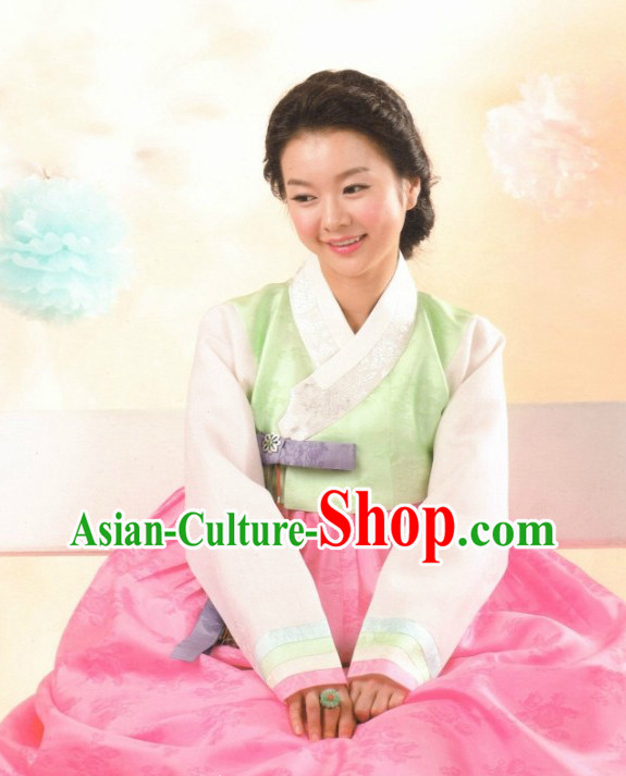 Traditional Korean Custom Made Hanbok Clothes Complete Set for Ladies