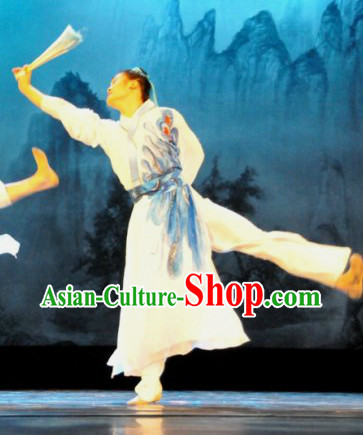 Chinese Traditional Butterfly Love Dance Costumes and Headbands Complete Set