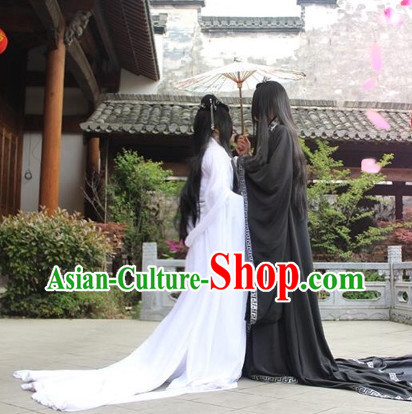Chinese Black Hanfu Costumes Asia Fashion Ancient China Culture