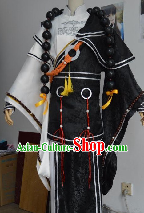 Asian Fashion Chinese Monk Costumes Complete Set