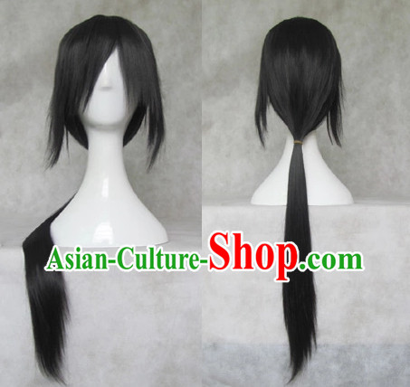 Traditional Chinese Cosplay Long Wig Chinese Ancient Costumes Wig for Men