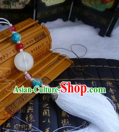 Chinese Traditional Costume Jade Belt Accessories