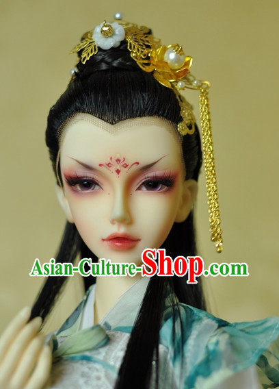 Chinese Traditional Black Wig and Hair Accessories Hairpin Hair Jewelry