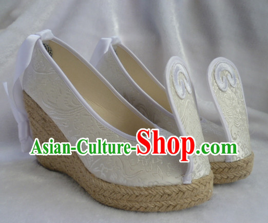 Chinese Traditional Clothing Fabric High Heel Shoes