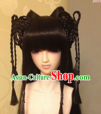 Chinese Traditional Princess Black Long Wig