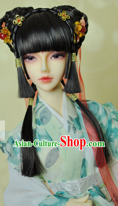 Asia Fashion Chinese Princess Wig and Hair Accessories