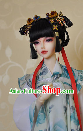 Asia Fashion Chinese Princess Wig and Hair Jewelry