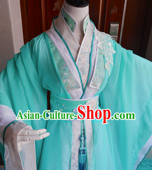 Chinese Traditinoal Princess Hanfu Dresses Complete Set
