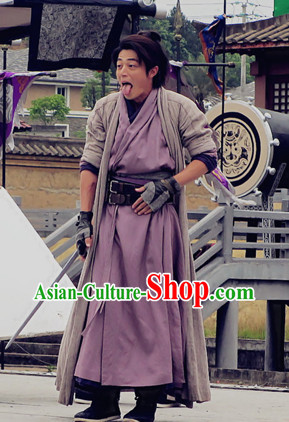 China Fashon Warrior Mandarin Dress Halloween Costumes Full Set
