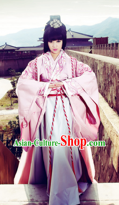 Chinese Imperial Empress Clothing and Hair Accessories Complete Set
