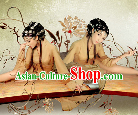 China Fashion Kimono Dress and Hair Jewelry