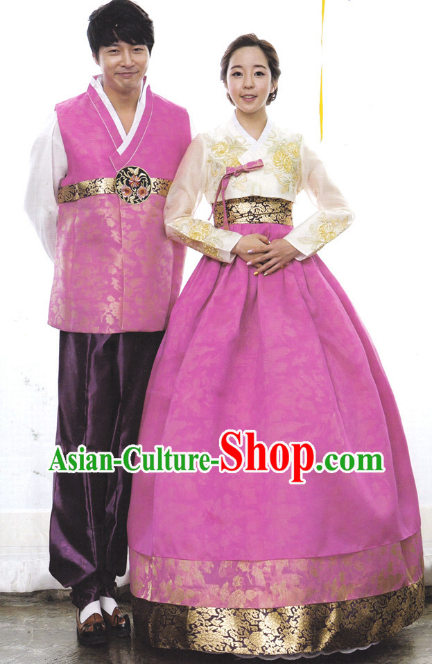 Korean Traditional Couple Clothing Complete Sets