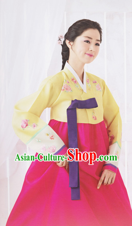 Korean Traditional Lady Hanbok Clothing Complete Sets