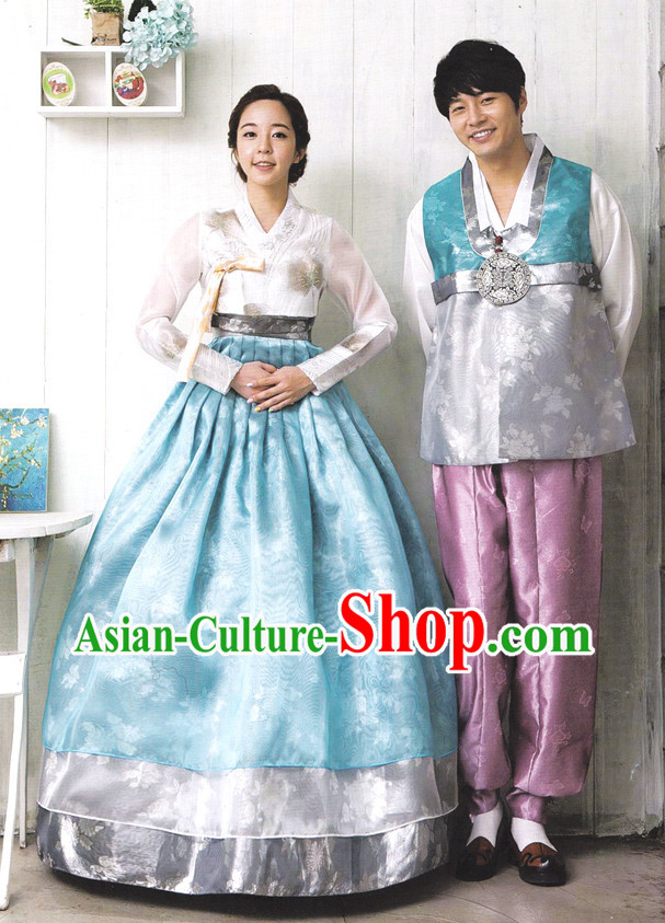 Korean Traditional Hanbok Suits for Men and Women
